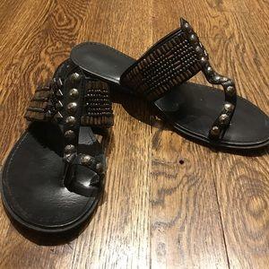 Beaded flip flops. Sz 7.5